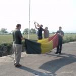 Le drapeau belge est rentré